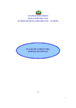 plano de curso para formação inicial - Polícia Civil