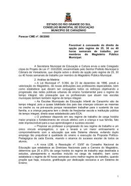 Parecer CME nº 08-2000 - Conselho Municipal de Educação de