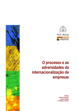 O processo e as adversidades da internacionalização de empresas