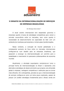 o desafio da internacionalização de serviços de empresas brasileiras