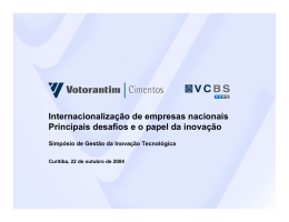 Votorantim - Internacionalização