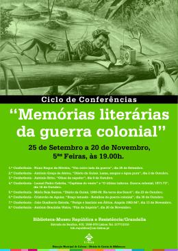 """""""Memórias literárias da guerra colonial"""""""