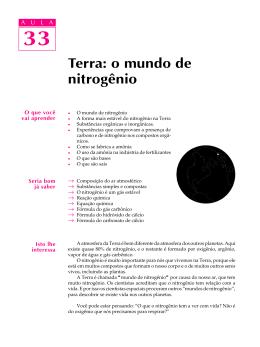 33. Terra: o mundo de nitrogênio