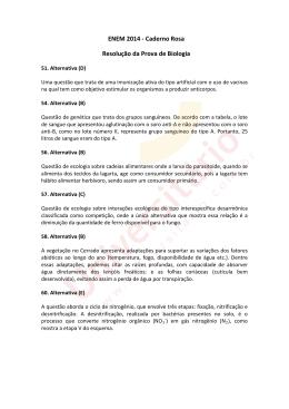 ENEM 2014 | Resolução da Prova de Biologia | Caderno Rosa