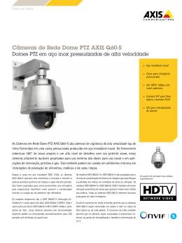 Câmeras de Rede Dome PTZ AXIS Q60-S