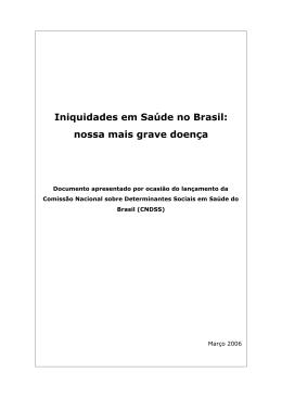 Iniquidades em Sa~de no Brasil