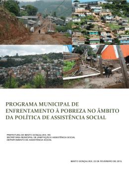 programa municipal de enfrentamento à pobreza no âmbito da