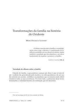 Transformações da família na história do Ocidente