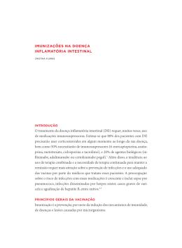 ImunIzações na doença InflamatórIa IntestInal O