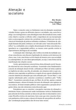 Alienação e Socialismo Rita Mendes, César