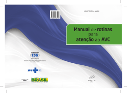 Manual de rotinas para atenção ao AVC