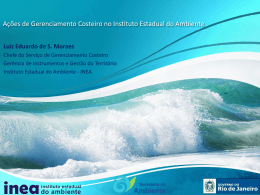 Ações de Gerenciamento Costeiro no Instituto