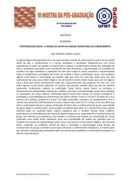 MESTRADO-FILOSOFIA-José Antonio Gomes Chaves