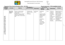 3. TIC no quotidiano escolar - Agrupamento de Escolas S. João do