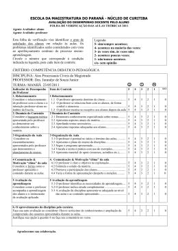 desempenho docente pelo aluno