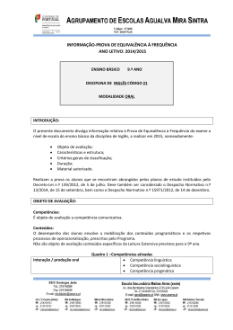 Informação-prova Ing 21_Oral_ 2015