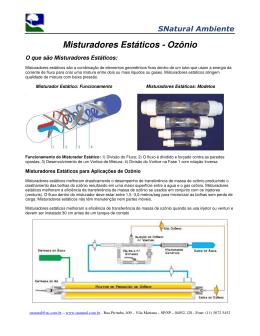 Misturadores Estáticos - Ozônio