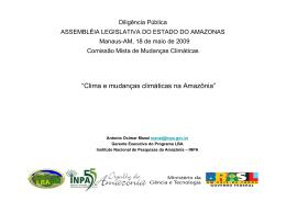 Climas e Mudanças Climáticas na Amazônia