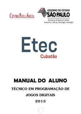 Manual do Aluno - ETEC DE CUBATÃO