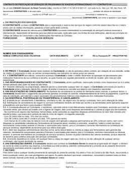 Contrato de viagem - VIAGGIO Turismo