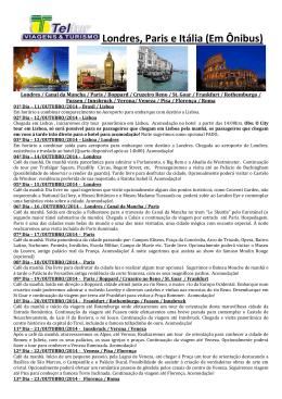 PDF: Pacote turístico da Teltur para outubro-2014