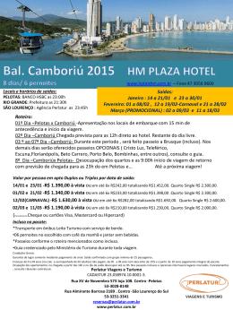 Camboriú Hotel HM - Perlatur Viagens e Turismo