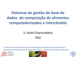 Sistemas computadorizados - Food and Agriculture Organization of