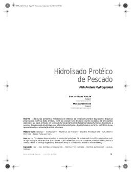 Hidrolisado Protéico de Pescado
