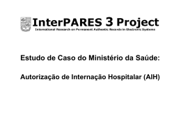 Estudo de Caso do Ministério da Saúde: