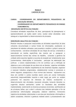 COORDENADOR DO DEPARTAMENTO