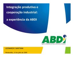 Integração produtiva e cooperação industrial: a