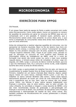 Microeconomia - Mauro Miranda - Aula Intro 1