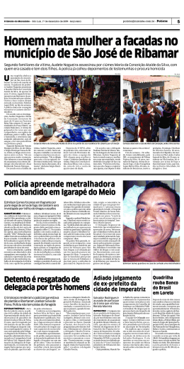 Homem mata mulher a facadas no município de São José de Ribamar