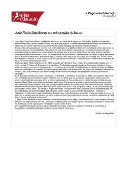 José Paulo Serralheiro e a reinvenção do futuro