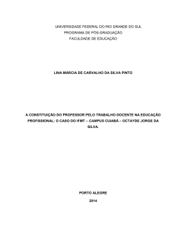 A constituição do professor pelo trabalho docente na educação