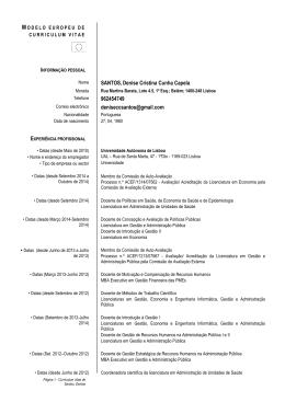 curriculum vitae completo - Universidade Autónoma de Lisboa
