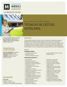 TÉCNICAS DE GESTÃO HOTELEIRA - Edu