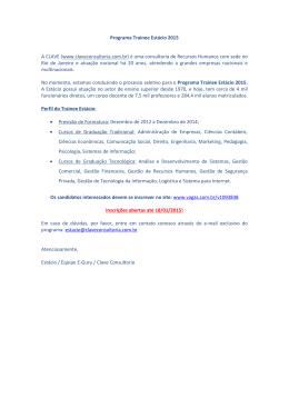 Programa Trainee Estácio 2015 A CLAVE (www