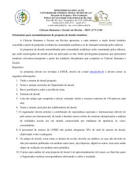 Ciências Humanas e Sociais em Revista – ISSN 2175