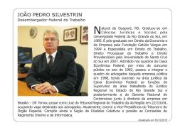 João Pedro Silvestrin - Tribunal Regional do Trabalho da 4ª Região
