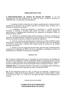 Resolução nº 1493/2009 - Centro de Estudos e Aperfeiçoamento