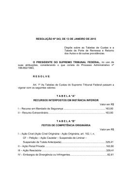 RESOLUÇÃO Nº 543, DE 13 DE JANEIRO DE 2015 Dispõe sobre