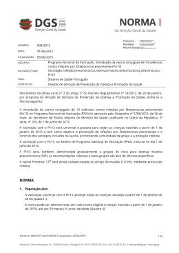 Norma nº 008/2015 de 01/06/2015 atualizada a 05/06/2015