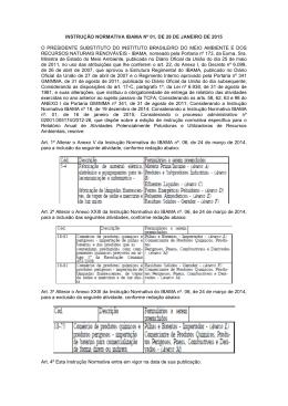 Instrução Normativa IBAMA nº 01/2015
