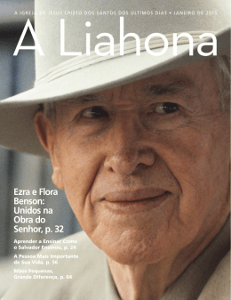 Janeiro de 2015 A Liahona - The Church of Jesus Christ of Latter