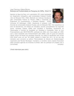 Joao Francisco Galera Monico Bolsista de Produtividade em