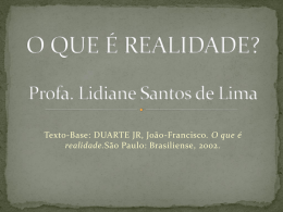 Texto-Base: DUARTE JR, João-Francisco. O que é