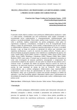 PRÁTICA PEDAGÓGICA DE PROFESSORES