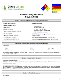 1 0 0 Material Safety Data Sheet