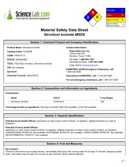 Msds For Strontium Bromide